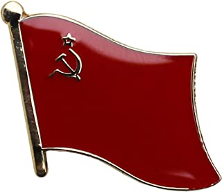 AES USSR Country Flag Bike Hat Cap lapel Pin