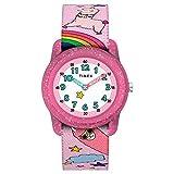 Timex Girls TW7C83800 Time Machines Analog 28mm Pink Llamacorns Elastic Fabric Strap Watch