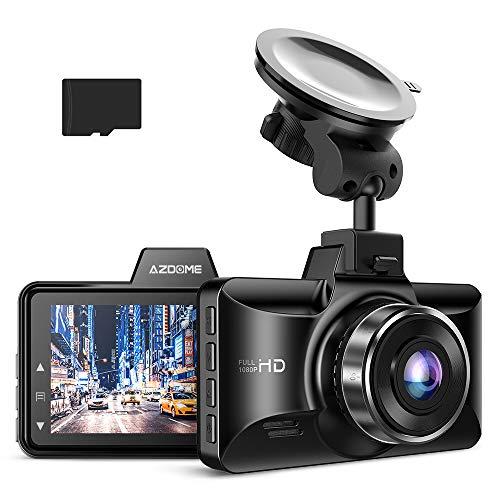 [Versión 2020] Metal Dash CAM, AZDOME 1080P FHD Car Camera, 3 Pulgadas con visión Nocturna, ángulo de visión 170, grabación de Bucle, Modo de estacionamiento, detección de Movimiento, Sensor G