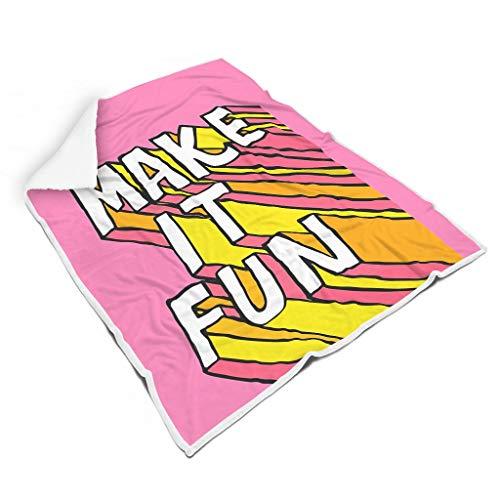 Lind88 Fledermausdecke 1564381659UYMNT Muster Print Microfaser Big Wrap Bademantel – weich für Jungen, Fleece, weiß, 50x60 inch