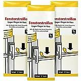 com-four 36x Fliegenstreifen, Fliegen-Fensterstreifen, gegen Fliegen, Mücken etc. im Haus (036 Stück - Streifen)