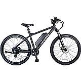 FreeForce Electric Mountain Bike, Matte Black, 375W, 20' Frame, 27.5' Wheel, Kenda Tires, 20mph, Throttle, Pedal Assist, 8 Gears, Bafang Motor