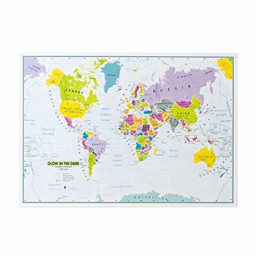 Glow in the Dark - Children's World Wall Map Poster