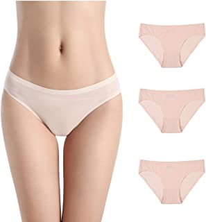 UDERSON Women's Seamless Underwear Breathable Panties with Low Rise Hipster Microfiber Bikini, Pack of 6