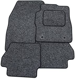Custom Fit Tailor Made Anthracite Carpet Car Mats with Black Trim for Golf Plus  2005 Onwards  Double Drivers Side Protection Heel Pad