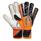 HO Soccer Initial Flat Orange Guantes de Portero, Unisex niños, Naranja/Negro, 4