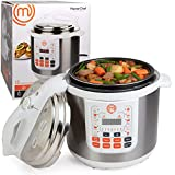 MasterChef 13-in-1 Pressure Cooker- 6 QT Electric Digital MultiPot w 13 Programmable Functions- High and Low Pressure Cooking Options, LED Display, Delay Timer and Non-stick Pot
