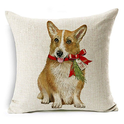 Originaltree Federa per cuscino con stampa di un cane...