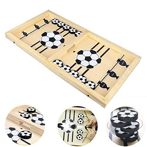 Brettspiel Hockey, Katapult Brettspiel,Bouncing Brettspiel,Fast Sling Puck Game,Tisch Hockey Brettspiel,Katapult Schach,Bouncing Chess Hockey Game,Puck Spiel Holz (Fußball)