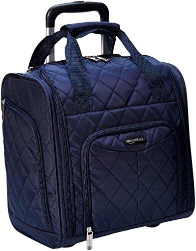 Amazon Basics - Koffer zur Aufbewahrung unter dem Sitz, Marineblau Gesteppt