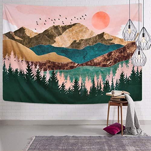"""Preisvergleich Produktbild Jiamingyang Wandteppich,  Blumen-Elefanten-Druck,  Wandteppich,  Bohemian-Stil,  Raumdeko,  Bettwäsche,  Teppich Large / 80"""" x 60"""" Pattern15"""
