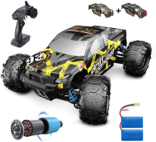 DEERC Brushless RC Cars 300E 60KM/H High Speed Remote Control Car 4WD 1:18 Scale Monster Truck for Kids Adults, All Terrain Off Road Truck with Extra Shell 2 Battery,40+ Min Play Car Gifts for Boys…