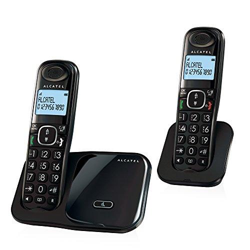 Alcatel XL280 Duo DECT Identificador de Llamadas Negro - Teléfono (DECT, Desk/Wall, Negro, LCD, AAA, Polifónico)