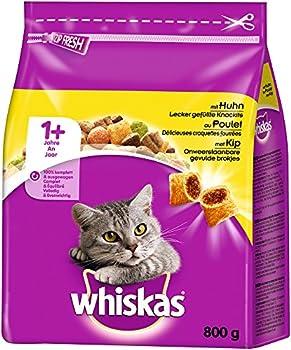 whiskas, croquettes pour Chat, Nourriture sèche pour Chat Adulte