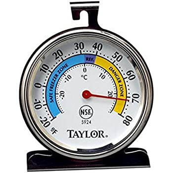 Taylor 9000053 5924 Classic Refrigerator / Freezer Analog Extra-Large Dial Thermometer
