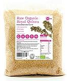 PINK SUN Quinua Real Blanca Orgánica 3kg Semillas de Quinoa Bio a Granel Sin Gluten - Organic Royal Quinoa White Bulk Buy