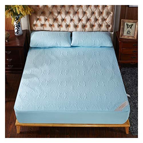WYJHNL Queen matrasbeschermer waterdicht gewatteerd passend matrasbeschermer met ademende katoenen binnenkant kern 16