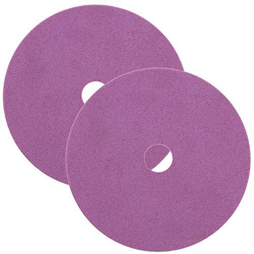 2 discos de corte corindón para afilador de sierra con cadena, 145 x 22,3 x 3,2 mm.