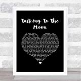 Wildlife Hunter #B.r.u.n.o #M.a.r.s #Talking to The Moon Black Heart Song Lyric Quote Music Print Poster Wall Art Home Decor Gifts for Lovers Painting