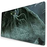 QBahoe Mousepad Cthulhu Monster Fantasy Art Gaming Mouse Pad Rectangle Non-Slip Rubber Mouse Pads Mat for Computer Laptop Home Office Game Desk 15.8 X 29.5 Inch