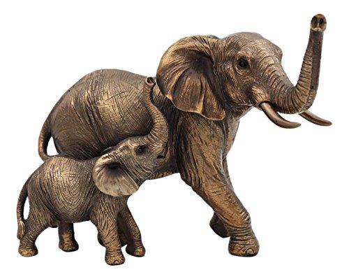 Leonardo Collection Figur Reflexe Elefant und Kalb, Bronze