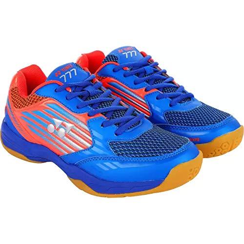 Yonex Comfort Cushioning Non Marking Badminton Shoes, Blue/Red - 7 UK