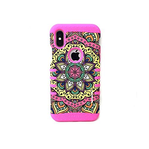 Swirl Pearl Rocker Phone Case for iPhone XR (Magenta)