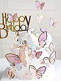 JeVenis 15 piezas de decoración de pastel de hadas mariposa decoración de pastel de...