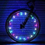 ivkey Luces de Rueda de Bicicleta, Paquete de 2 neumáticos Luces de radios de Bicicleta Delanteras y traseras, Luces LED de Rueda de Bicicleta Impermeables ultrabrillantes (baterías Incluidas)