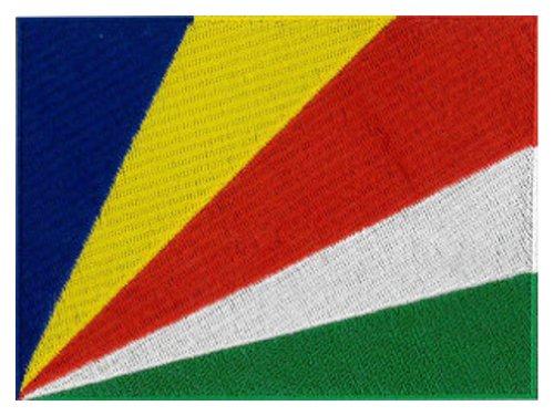 Klicnow Parche bordado de la bandera de Seychelles, 12 x 9 cm