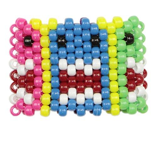 Miss Pacman Kandi Cuff, kandi bracelet, beaded cuff, bead bracelet, for halloween music festivals and raves