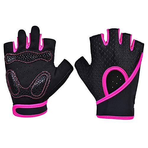 FLAUU Fitness Handschoenen Unisex Sport Handschoenen Handschoenen Handschoenen Handschoenen Handschoenen Handschoenen Handschoenen Handschoenen Handschoenen Fitness Fitness Pink L