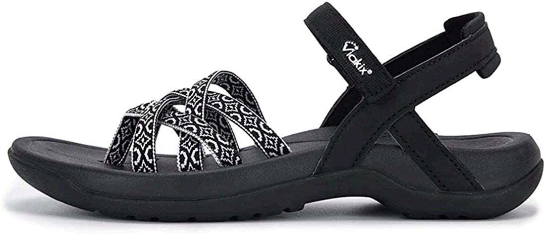 Viakix Womens Walking Sandals – Comfortable Stylish Athletic Sandals for Hiking, Outdoors, Travel, Sports, Travel, Beach (Medium and Narrow Widths)