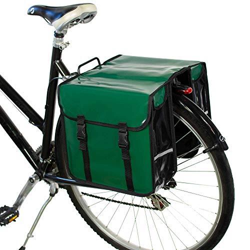 BikyBag Wasserdicht - Doppel Fahrradtasche Gepäckträgertasche (Grün)