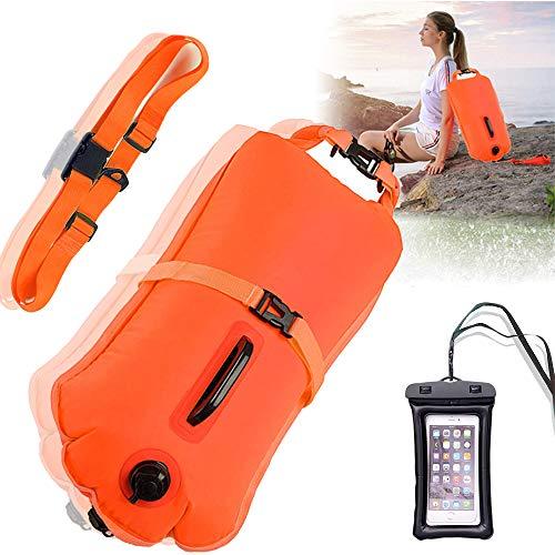 Boya Natacion , boya natacion aguas abiertas Inflable flotador de remolque para todos los triatletas de deportes acuáticos y nadadores de aguas abiertas