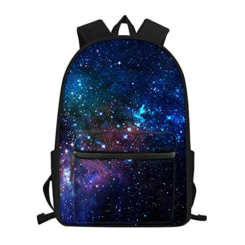 Nopersonality Galaxy Star Cool Elementary Middle School Backpacks for Boys Girls Bagpacks Waterproof Lightweight Bookbags Small Purple