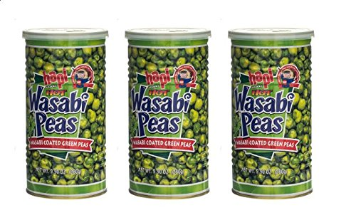 Hapi Hot Wasabi Peas, 9.9 Ounce (Pack of 3)