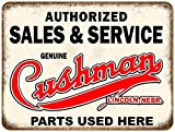 Tamengi Cushman Motor Scooters Sales Service Parts Sold Aluminum Sign 12' X 18'