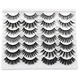JIMIRE 14 Styles Mixed False Eyelashes Fluffy Fake Lashes Natural 3D Volume Faux Mink Lashes Pack