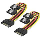 BENFEI 15 Pin SATA Power Y-Splitter Cable 8 Inches - 2 Pack