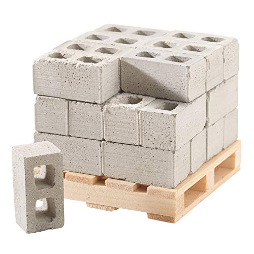 Mini Materials Miniature Cinder Blocks with Pallet, 24 Blocks