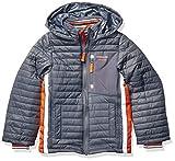 LONDON FOG Boys' Little Active Puffer Jacket Winter Coat, Grey Super, 4