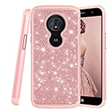 COTDINFOR Motorola Moto G6 Play Coque Couverture Diamant Cute Robuste Double Couche De Silicone...