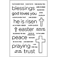 jokeWEN クリアスタンプ シリコンスタンプ 祈りの十字架DIYシリコンクリアスタンプしがみつくシールスクラップブックエンボスアルバムの装飾