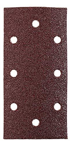 kwb Quick-Stick Schleifpapier – für Schwing-Schleifer K 40, K 80, K 240, für Holz und Metall, 93 mm x 187 mm, Edelkorund, gelocht mit Klett (10 Stk.)