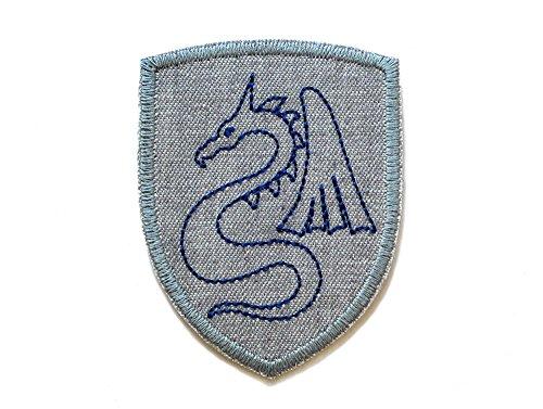 Drachen Wappen Patch Applikation zum aufbügeln für Kinder