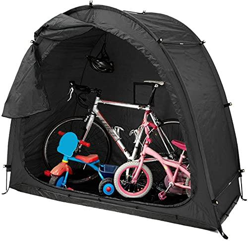 Tenda da bicicletta portatile, capannone per tenda da deposito per biciclette, deposito per biciclette all'aperto salvaspazio, con design della finestra, impermeabile resistente alle intemperie