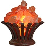 Stone Bouquet Himalayan Salt Lamp with Dimmer Cord - 100% Natural Pink Salt and...