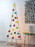 CAIRO Weihnachten Deko Weihnachtsbaum Edelstahl - Weihnachtsdeko, Dekobaum, Weihnachtsdekoration, Baum künstlich, Dekoration, Metall Figur für innen
