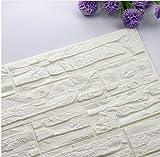 Diy 3D Brick Pe Foam Wallpaper Pe Wall Stickers Paneles Habitación Decal Decoración de piedra en relieve 60X30Cm Etiqueta de la pared Poster